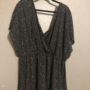 Torrid Size 4 Black and White Polka Dot Shirt
